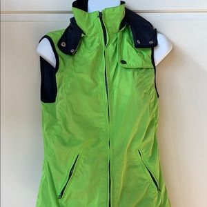 Navy and Green Hooded Vest